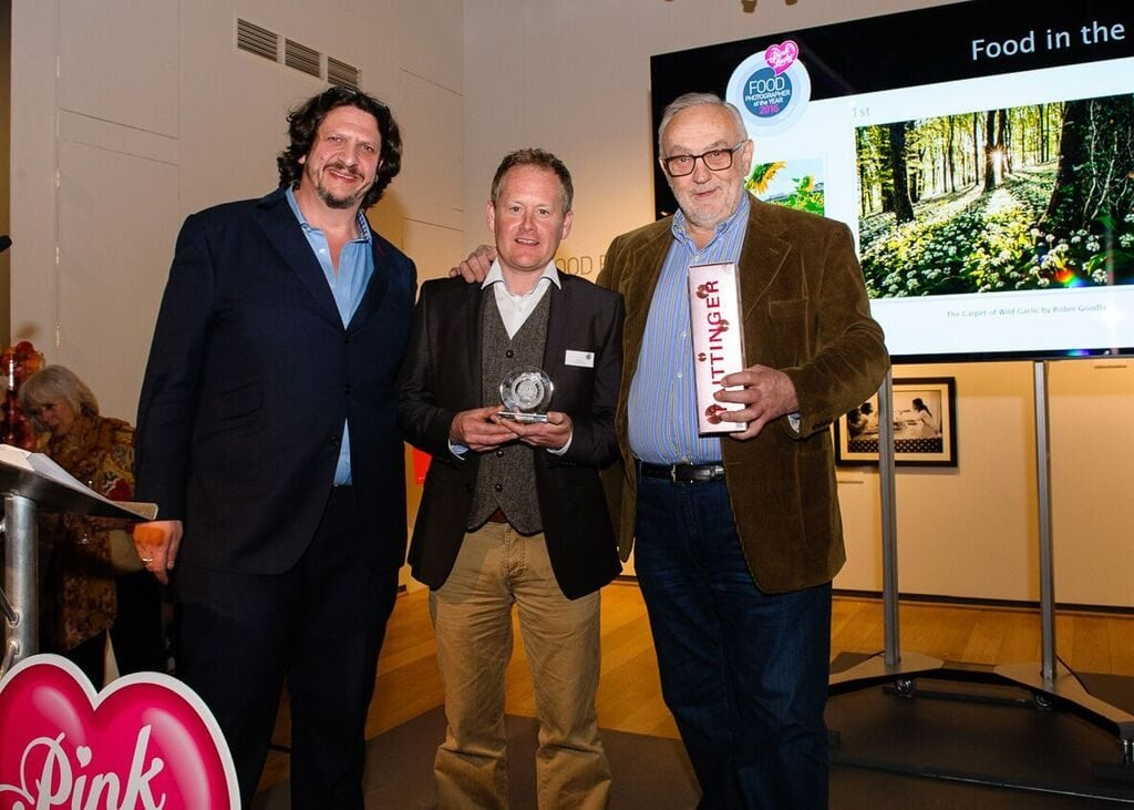 Robin Goodlad Food Photographer of the Year 2016 with Jay Rayner Pierre Koffmann