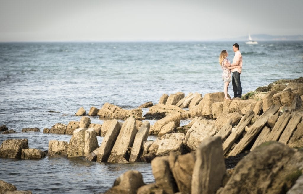 Robin Goodlad Langton Arms wedding photographer Tim and Maria's engagement shoot in Swanage