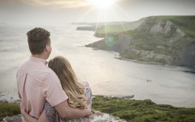 Maria and Tim's engagement shoot – Swanage, Dorset