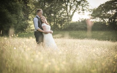 Aimee and Tom's Purbeck festival wedding