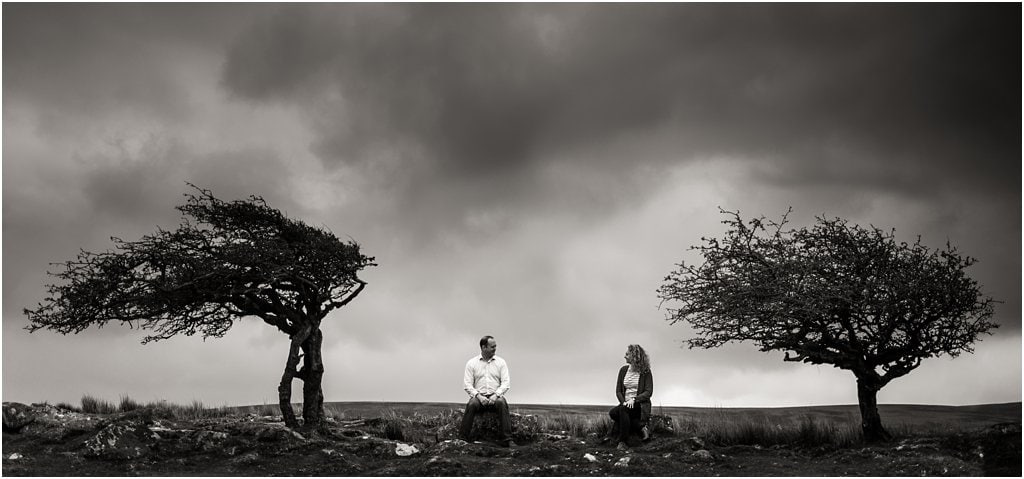 Kristi and Oli's Dartmoor engagement shoot