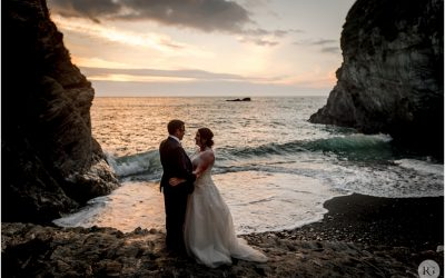 Michelle and Daniel's exclusive beach wedding at Tunnels Beaches, Ilfracombe, Devon