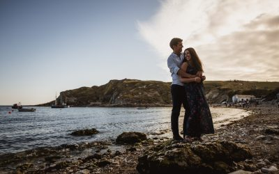 Lulworth Cove wedding photography – Nicola and Michael's engagement shoot