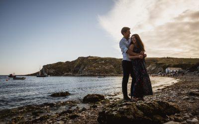 Lulworth Cove wedding photography – Nicola and Michael's engagement shoot