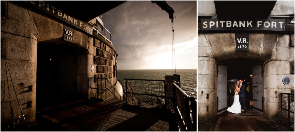 spitbank fort wedding photographer
