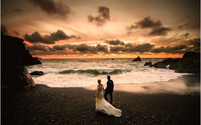 Tunnels Beaches wedding Photography | an autumn wedding by the sea